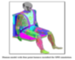 Human Model Under Vehicle Blast Simulation
