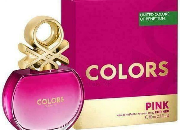 Benetton Colors Pink For Her Edt Natural Spray 80 Ml Women