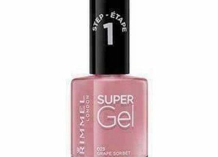 Rimmel Super Gel Nail Polish Grape Sorbet #023
