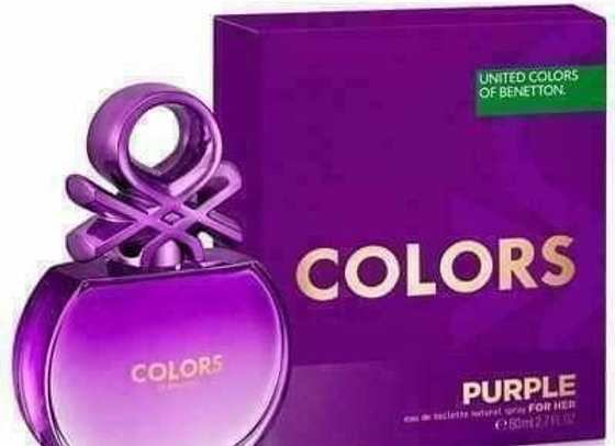 Benetton Colors Purple For Her Edt Natural Spray 80 Ml Women