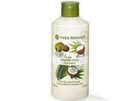 Yves Rocher Sensual Bath & Shower Gel Coconut 400Ml