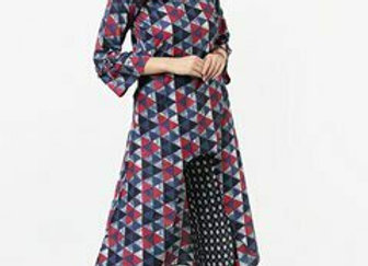 Women Multicoloured Printed Kurta with Trousers