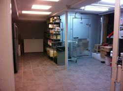 Basement dry storage and walk-in