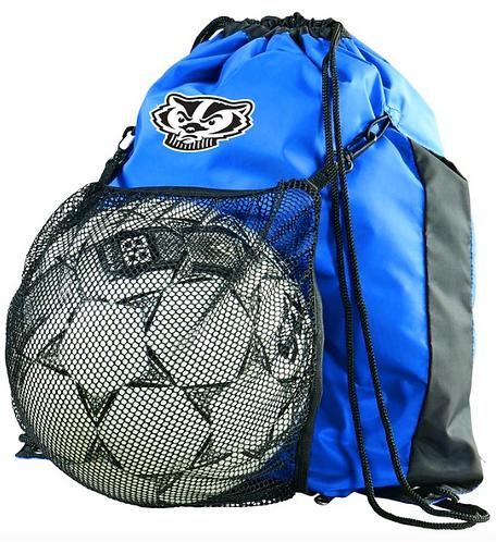 Badger Ball Drawstring Backpack