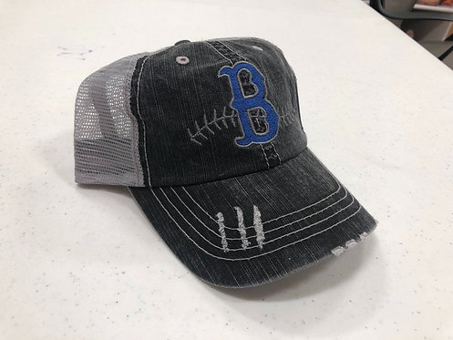 B Stitching Trucker Hat