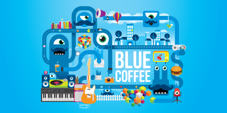 blue coffee
