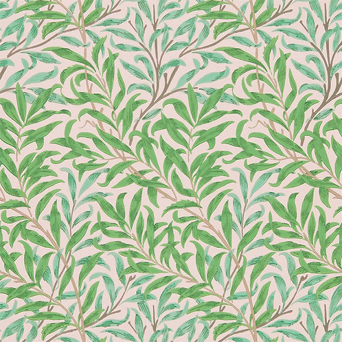 Morris &Co. Willow Bough Behang            (Pink/Leaf Green)