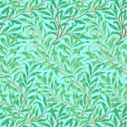 Morris &Co. Willow Bough Behang            (Sky/Leaf Green)