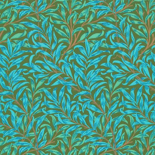 Morris & Co. Willow Bough Behang            (Olive/Turquase)