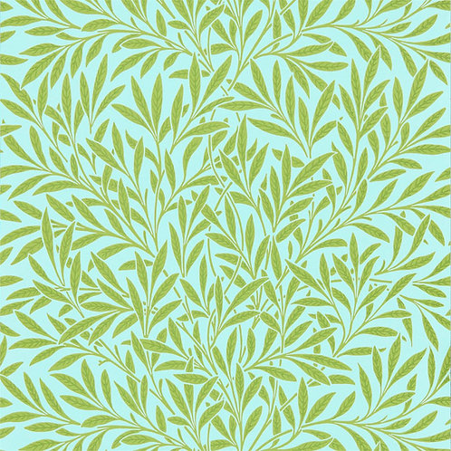 Morris &Co. Willow Behang            (Sky/Leaf Green)