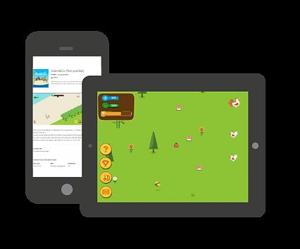 Jeu adapté aux smartphones, Iphone et tablettes numériques Island&Co