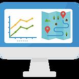 Visualisation de la localisation, la valorisation et CO2 absorbé EcoTree