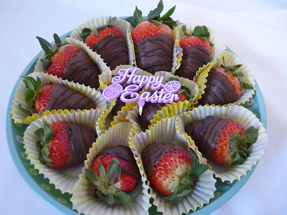 Double Chocolate Easter Strawberries (12) shown