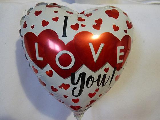 "I Love You Valentine Balloon 6"""