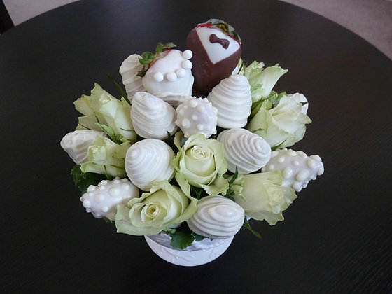 Flowers and Chocolate Strawberries
