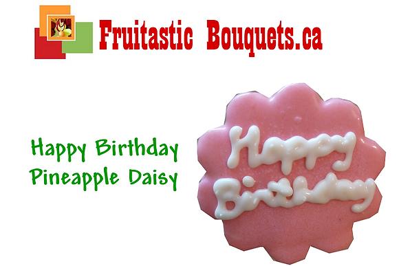 Add aHappy Birthday Pineapple Daisy