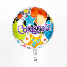 Congrats Balloon 12""