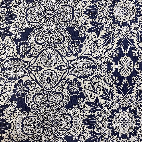 Patterned in Navy Blue