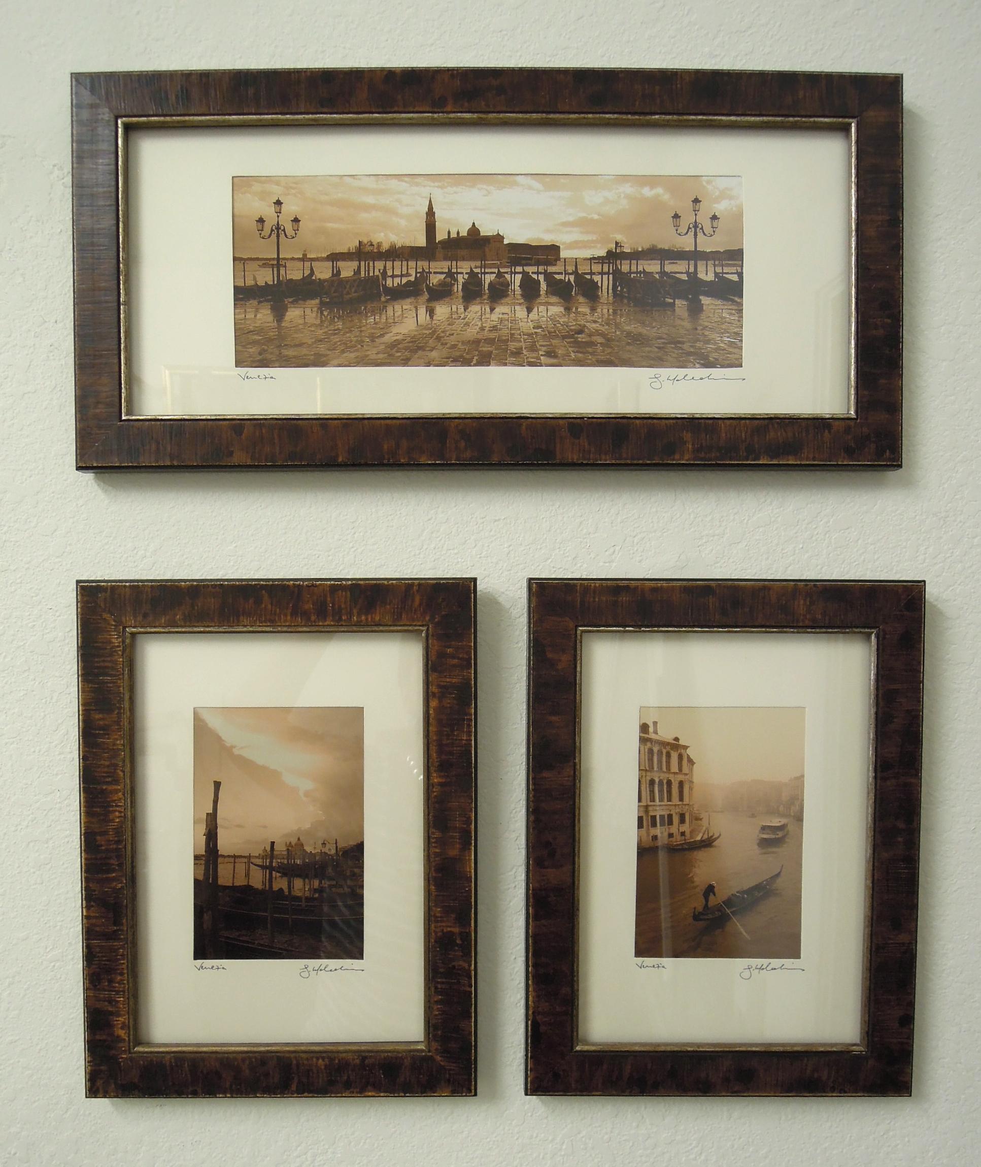 sepia photographs of venice