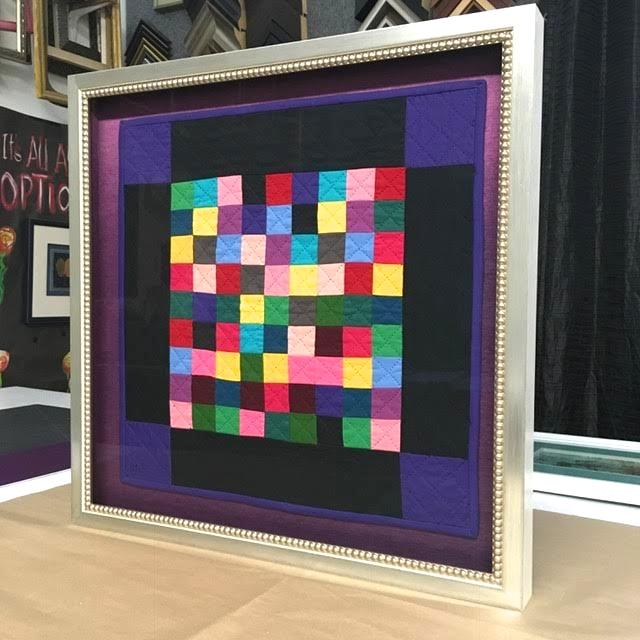 framed quilt, decorative fillet