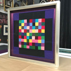 framed quilt, decorative fillet