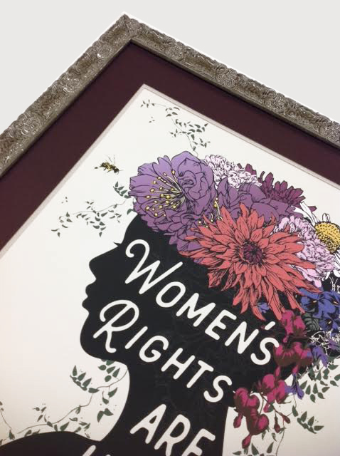 feminist poster, double fabric mat