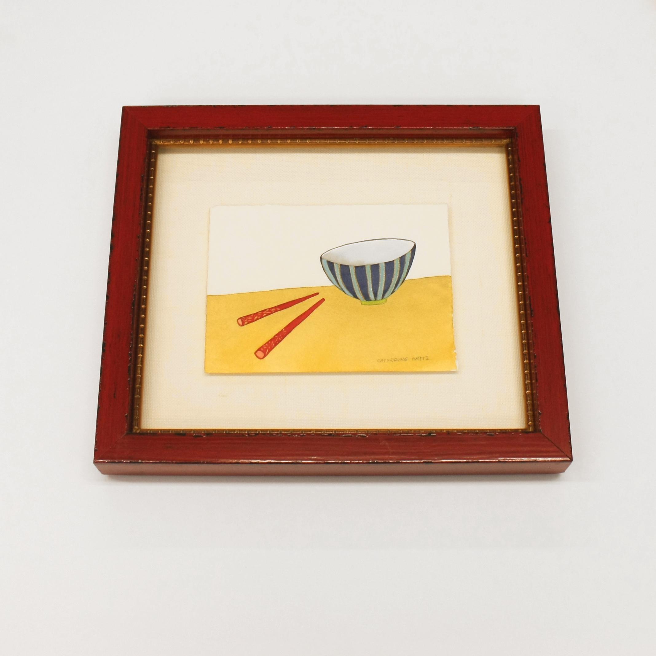 watercolor, gold fillet, stack frame