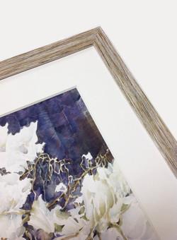 original watercolor, linen mat