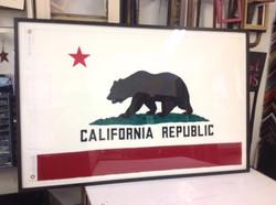 framed california flag