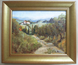 original oil painting, classic gold