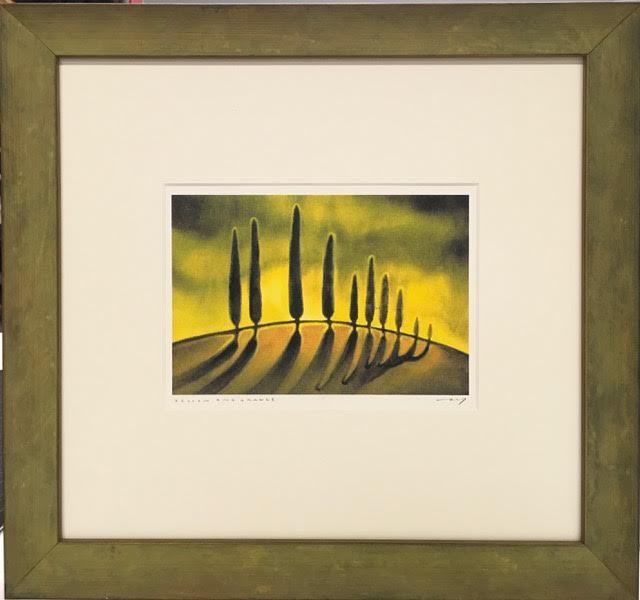 original painting, double mat