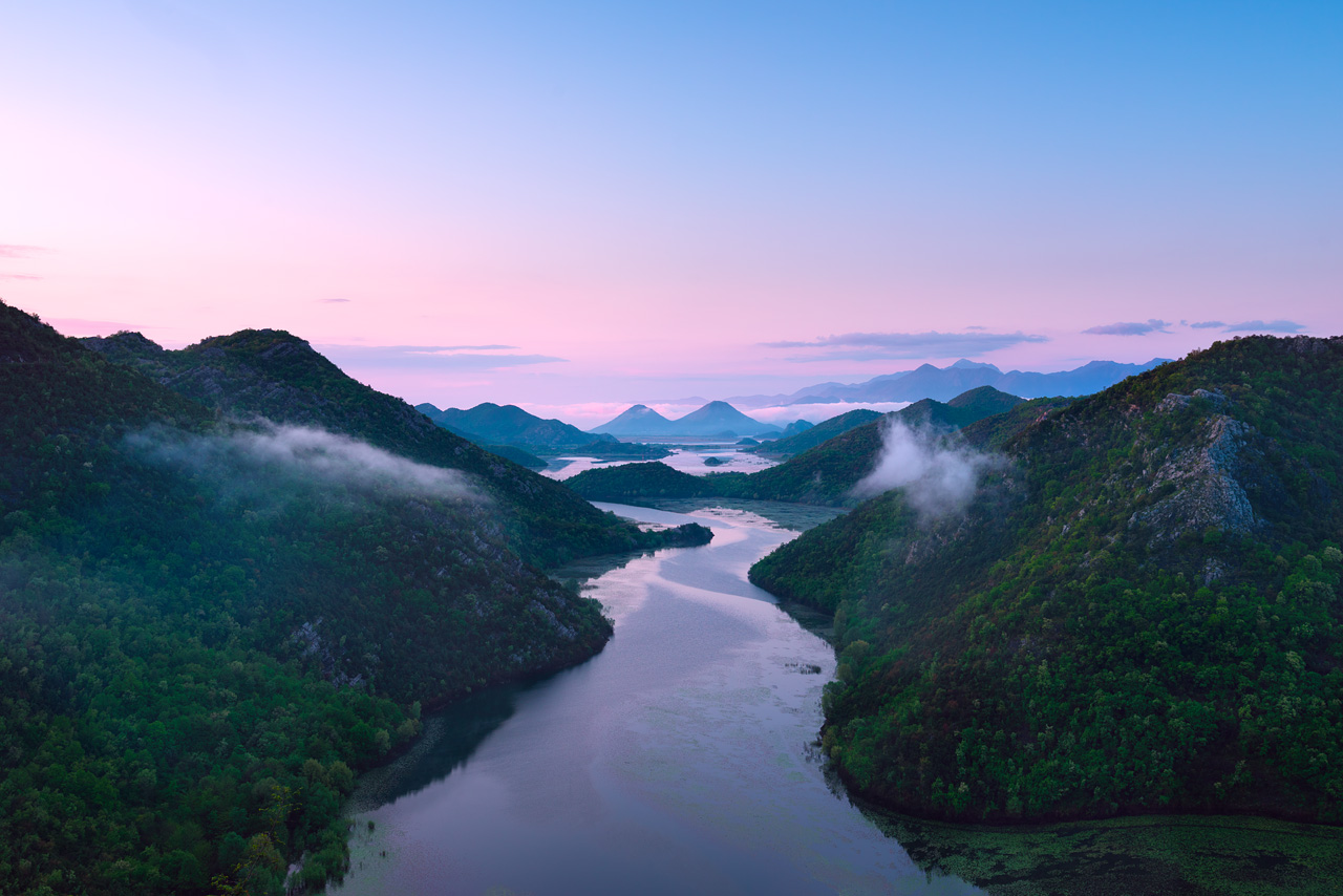 Вид на Скадарское озеро, Черногория
