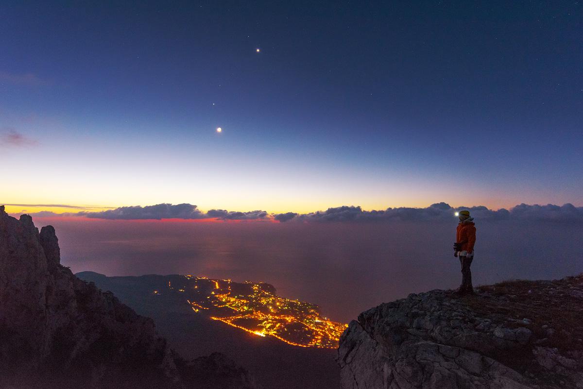 Ночь над Ялтой. Плато Ай-Петри