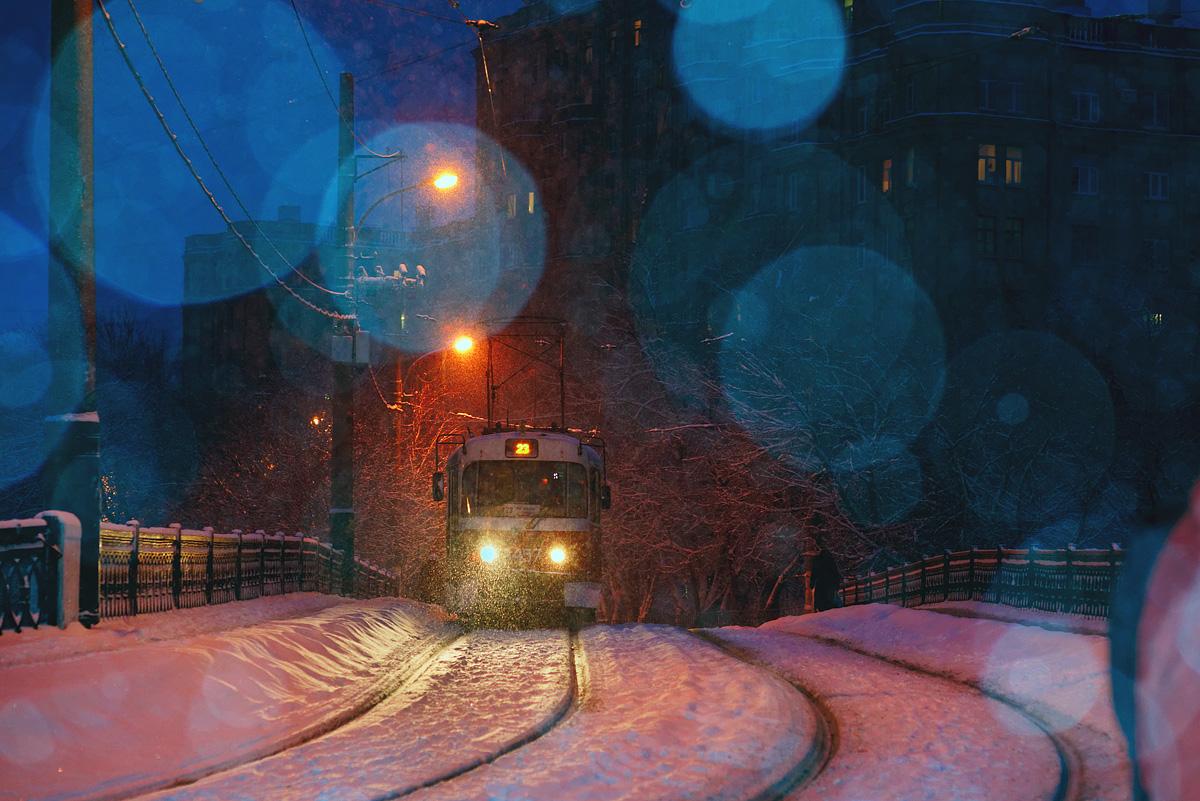 Зимние трамваи