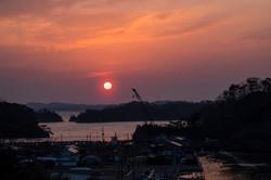須賀漁港の夜明け