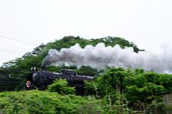 須賀を走るSL