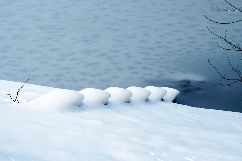 雪段 寒風沢溜池