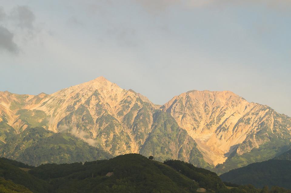 白馬鑓ヶ岳と杓子岳