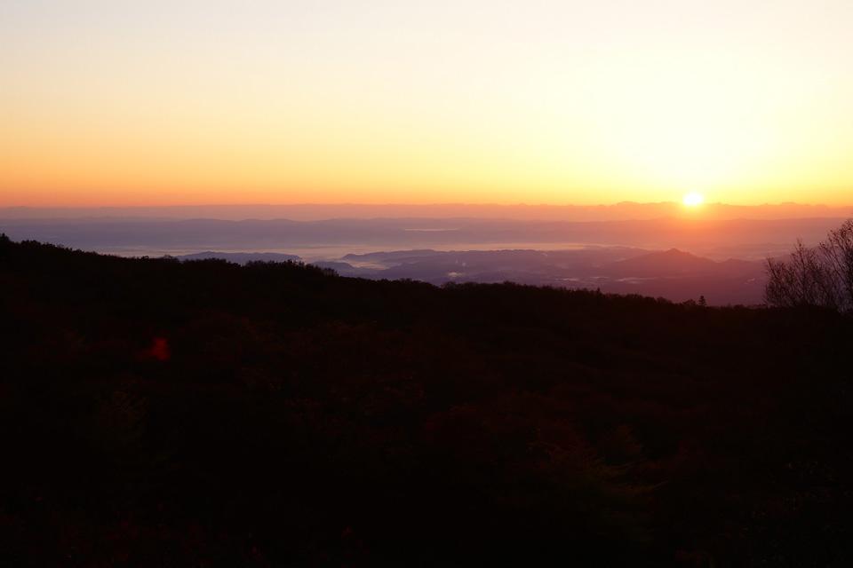 那須岳からの朝日