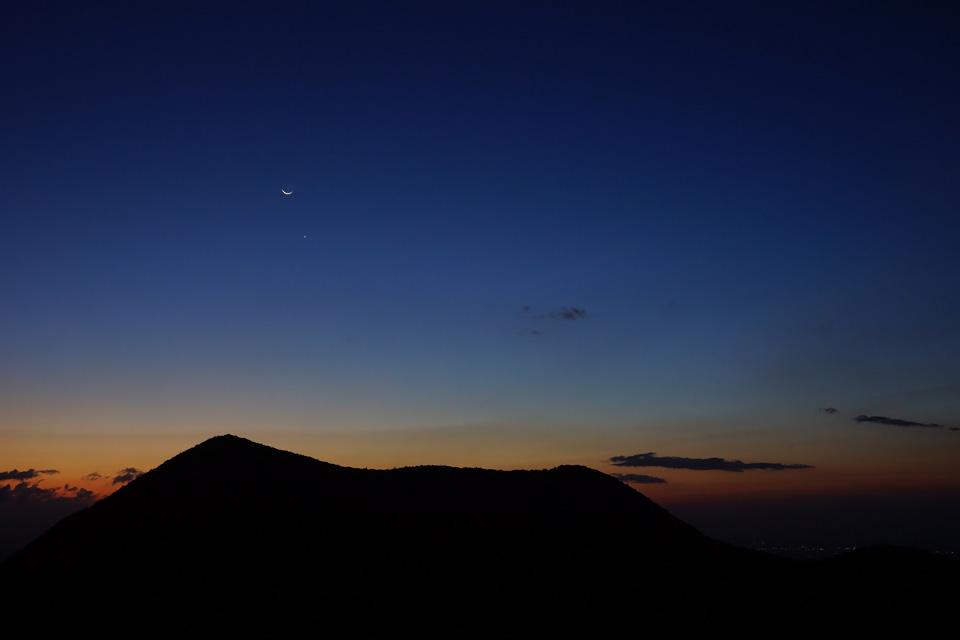 月と金星のコラボ