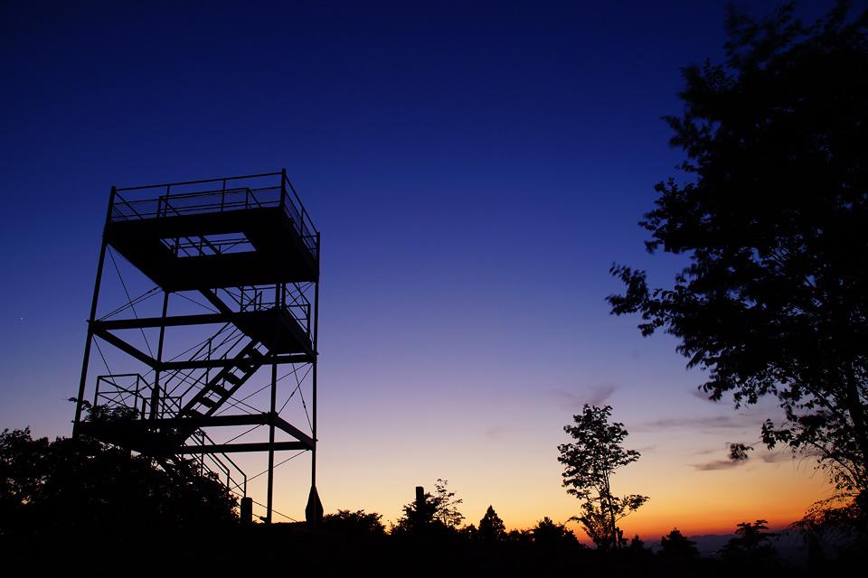 番ヶ森の夕昏