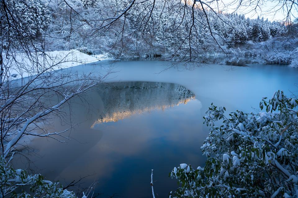 寒風沢溜池 上の堤