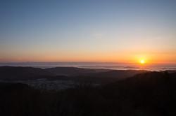 番ヶ森からの朝日