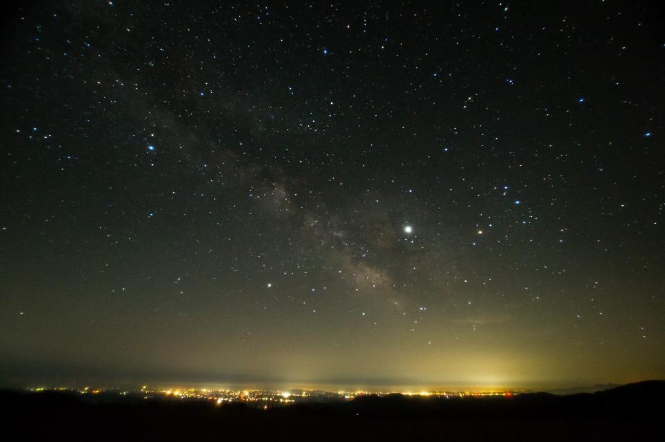 栗駒山からの星空