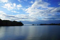 台風過ぎし浜田漁港