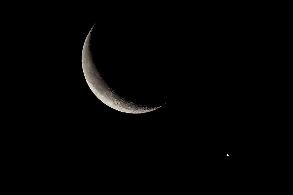 2019 1.2 月と金星が接近