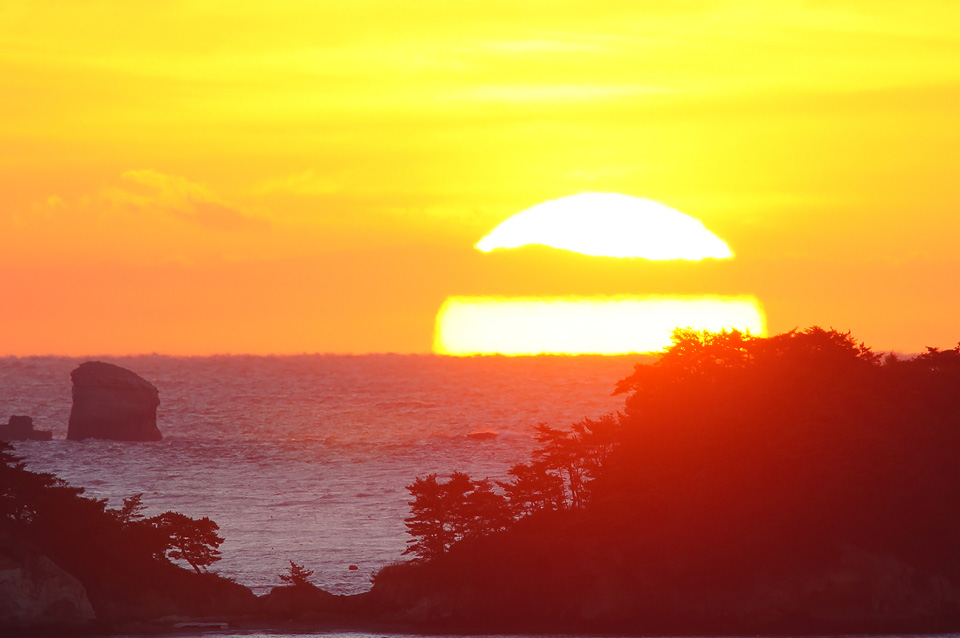 浜田瑞鳳ヶ丘からの朝日