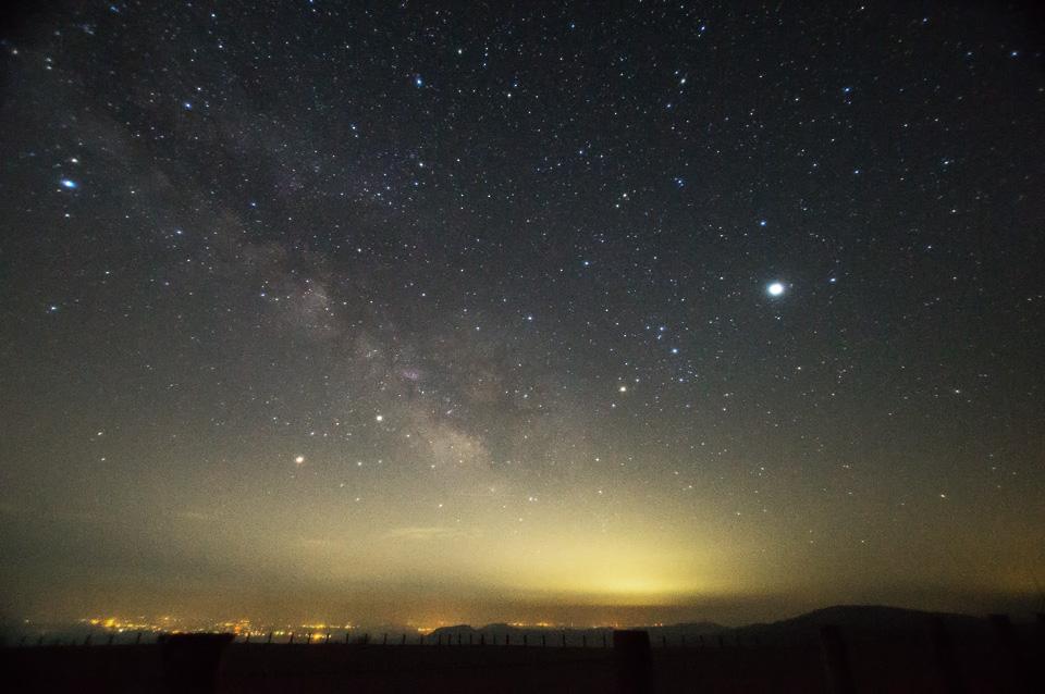 春の天の川 木星・土星・金星勢ぞろい