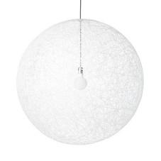 2x Pendelleuchten, Glasfaserfäden weiß, Ø 30 cm