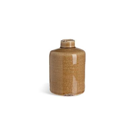 2x Vase, Keramik, gelb